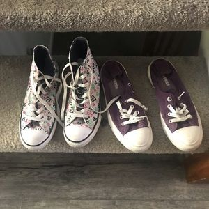 Two pairs of converse size 8W Like New!!!